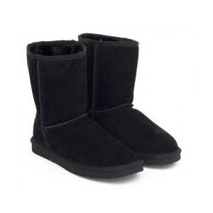 Ghete dama Superya negre piele tip UGG imagine