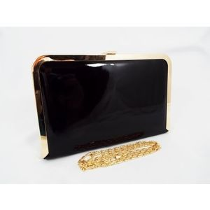 Geanta dama clutch neagra Feerya imagine
