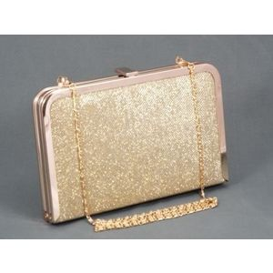Geanta dama clutch auriu metalizat Feerya imagine