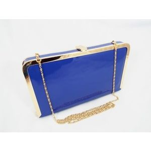 Geanta dama clutch albastra Gynna imagine