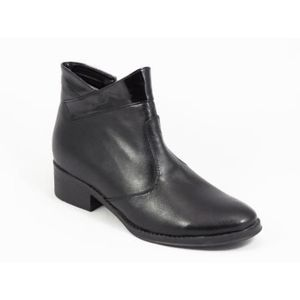 Ghete dama piele negre toc 3, 5 cm Laura imagine
