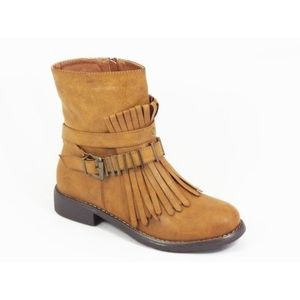 Ghete dama camel toc 3 cm Caryna imagine