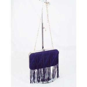 Geanta dama clutch albastra Vera imagine