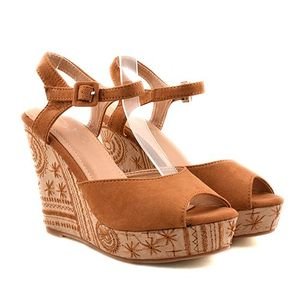 Sandale dama camel ortopedice toc 11, 5 cm Lenna imagine