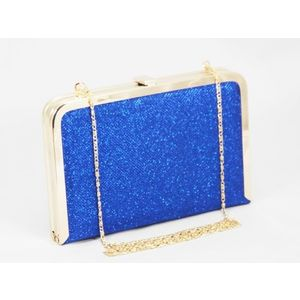 Geanta dama clutch albastru metalizat Feerya imagine