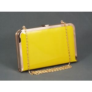Geanta dama clutch galbena Feerya imagine