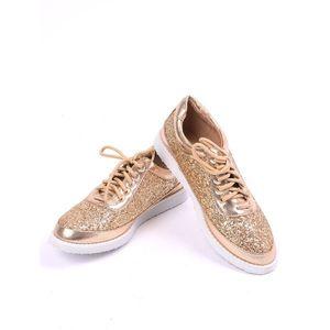 Pantofi Dama Casual Brilliant Aurii imagine