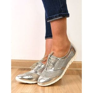 Pantofi Dama Sport Cu Perforatii Impress Argintii imagine