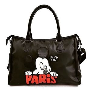 Geanta dama neagra sport Mickey imagine