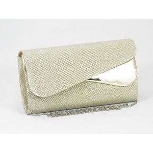 Clutch dama auriu sidefat Sorina imagine
