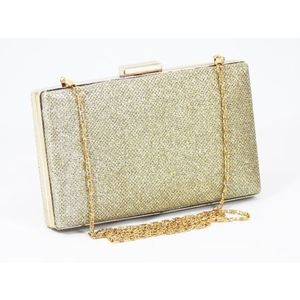 Clutch dama auriu metalizat Dorina imagine