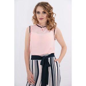 Bluza roz cu siret negru imagine