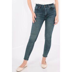 Jeans skinny fit decolorat imagine