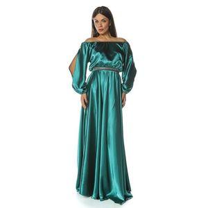 Rochie lungă din satin imagine