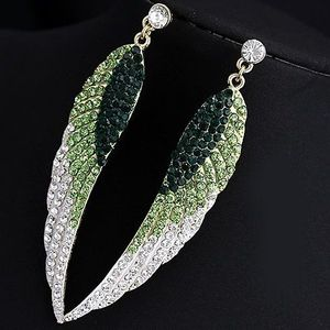Cercei Crystal Wings - Verde KP499 imagine