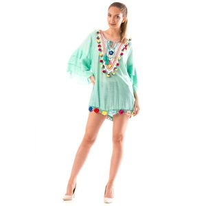 Bluza Dama BrodyMeaw10 Verde imagine