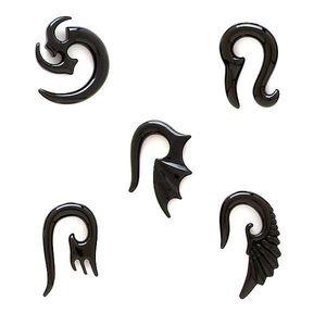 Expander ureche, motiv tribal - Lățime: 3 mm, Simbol: Aripă de dragon imagine