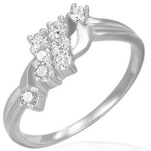 Inel de logodnă - două linii cu zirconii - Marime inel: 49 imagine