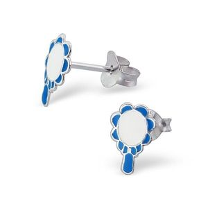 Cercei argint 925 - oglindă magică - Culoare: Albastru imagine