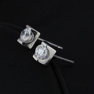 Bijuterii eshop - Cercei argint - zircon transparent, strălucitor X19.5 imagine
