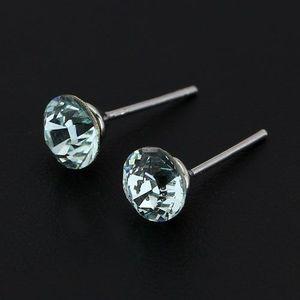 Cercei argint 925 - cristal Swarovski albastru deschis imagine