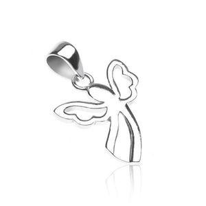 Pandantiv argint 925 - înger cu aripi decupate imagine