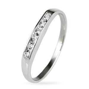 Inel argint - linie strălucitoare de zirconiu - Marime inel: 50 imagine