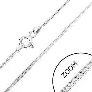 Lănțișor argint - linie din ochiuri cu margini, 1 mm imagine
