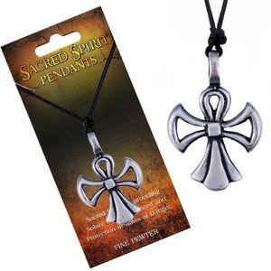 Colier din șnur - Cruce Spirit Sfânt, formă de înger imagine
