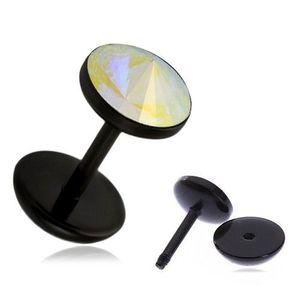 Plug fals pentru ureche din acrilic - model în nuanţele curcubeului imagine