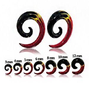 Expander pentru ureche - spirală în trei culori - Lățime: 10 mm imagine