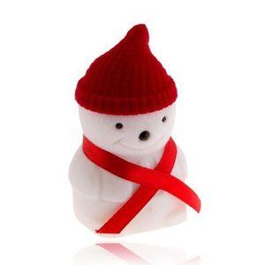 Bijuterii eshop - Cutiuță de cadou pentru inel, om de zăpadă cu căciuliță roșie U26.16 imagine