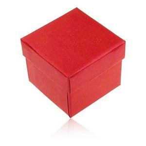 Bijuterii eshop - Cutiuță de cadou pentru inel sau cercei, culoare roșu-perlat Y29.8 imagine