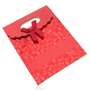 Bijuterii eshop - Sacoșă de cadou din hârtie lucioasă, roșu închis, decupaj U22.15 imagine