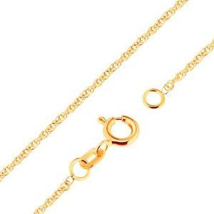 Lanț din aur 750 - zale strălucitoare ovale, unite, 500 mm imagine
