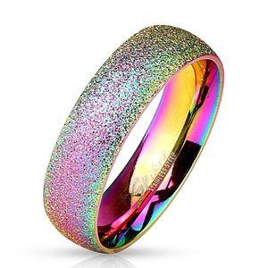Inel curcubeu realizat din oțel 316L cu suprafața strălucitoare, 6 mm - Marime inel: 49 imagine