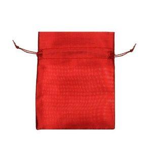 Punguță de cadou roșie, suprafață lucioasă, șnur imagine