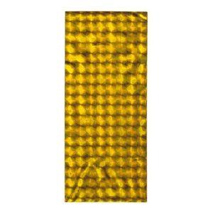 Punguță de cadou aurie din celofan cu pătrate lucioase imagine