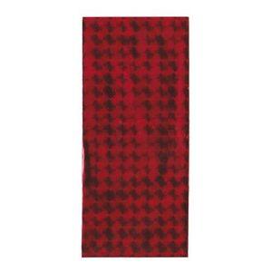 Punguță de cadou roșie din celofan cu pătrate lucioase imagine