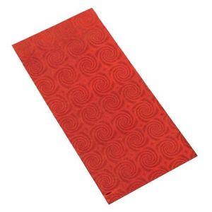 Punga de cadou realizata din celofan in culoare rosie cu model cu spirale. imagine