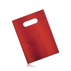 Pungă mată de cadou, din celofan, culoare roșu închis imagine
