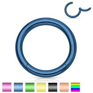 Piercing de nas sau ureche, din oțel, cerc simplu lucios, 1, 6 mm - Grosime x diametru: 1, 6 mm X 12 mm, Culoare Piercing: Ametist imagine