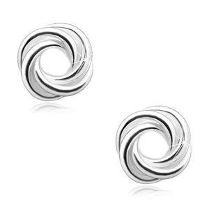 Bijuterii eshop - Cercei din argint 925 - nod strălucitor SP04.19 imagine