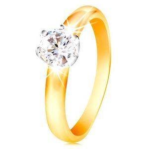 Inel din aur de 14K - zirconiu în montură din aur alb - Marime inel: 48 imagine
