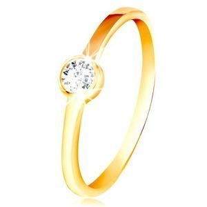 Inel din aur 585 - zirconiu în montură strălucitoare - Marime inel: 49 imagine