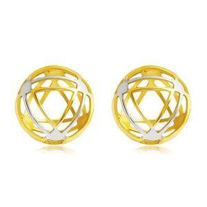 Cercei din aur de 14K - cerc cu contururi triunghiulare subțiri imagine