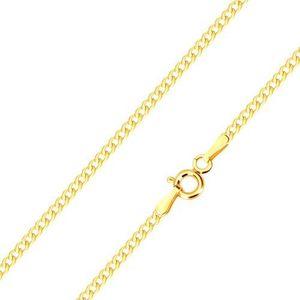 Lanț din aur galben 585 - conexiune în serie de zale ovale, 500 mm imagine