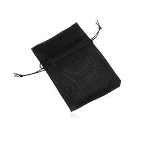 Bijuterii eshop - Săculeţ de cadou din organza, negru, suprafaţă lucioasă SP81.10 imagine
