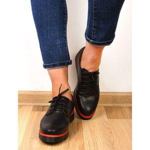 Pantofi Dama Casual Limit Negru Si Rosu imagine