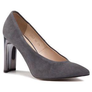 Pantofi SAGAN - 3747 Szary Welur imagine